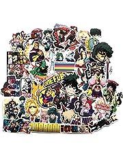 lunanana Mijn Hero Academia Stickers, MHA Vinyl Skateboard Gitaar Sticker Deur Laptop Bagage Case Auto Fiets Stickers