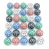 D60 5 Different Colors With Numbers 35mm (1.37in) Set of 30 Dice Koplow Games