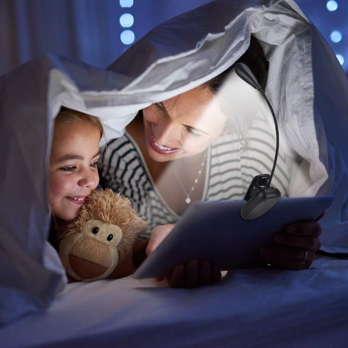Lampe de lecture portable /à LED avec 7 LED flexible /à 360/° classe /énerg/étique A+++ lampe de lecture LED