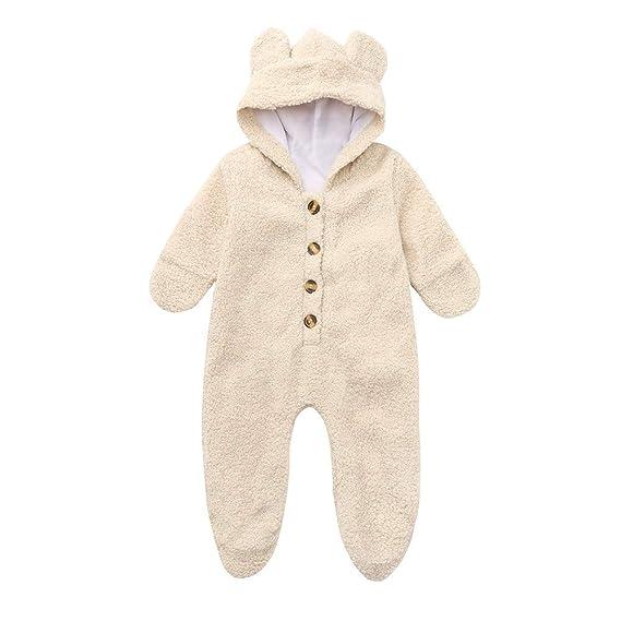 Bebé recién Nacido Sudadera con Capucha de Piel Invierno cálido Chaqueta de Abrigo Linda Ropa Gruesa: Amazon.es: Ropa y accesorios
