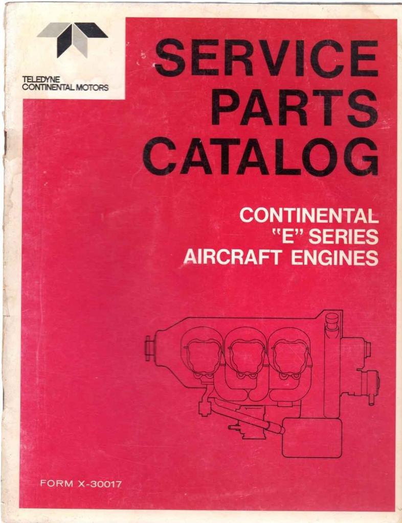 Service Parts Catalog ~ Continental