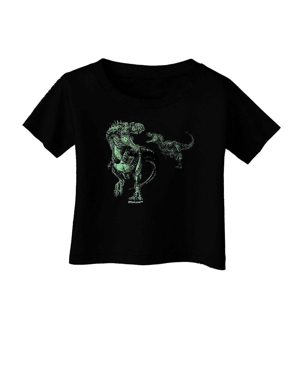 TooLoud Jurassic Dinosaur Design 1 Infant T-Shirt Dark