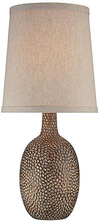 Chalane Hammered Antique Bronze Table Lamp Amazoncom