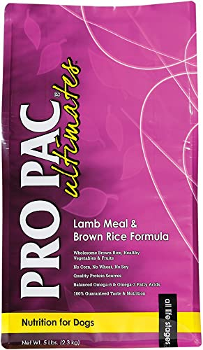 Pro Pac Ultimates Lamb Meal And Brown Rice Dry Dog Food, 5 Lb.