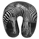U Type Neck Pillow Travel Soft Cervical Pillows Zebra Family Print Pillow
