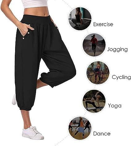 Worn Once Elasticated Waist ladies size 8-10 Black Dance Sweatpants Size 3
