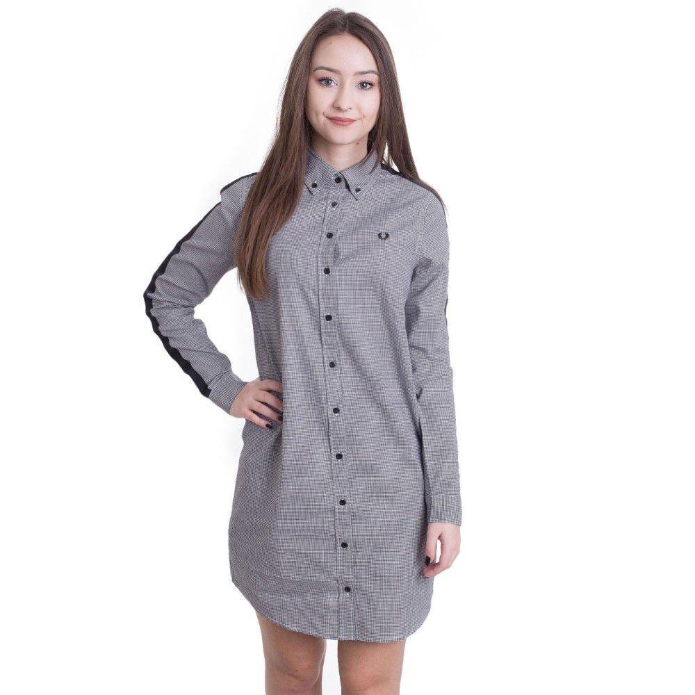 (フレッドペリー) Fred Perry レディース ワンピースドレス ワンピース Taped Houndstooth Shirt [並行輸入品] B07B9JKVX7   Medium