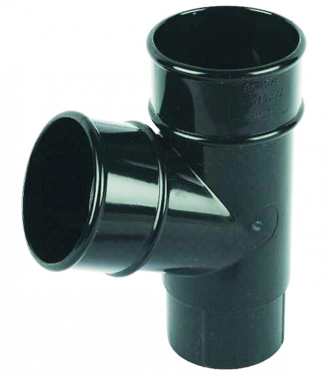 FLOPLAST 68mm Round 67 Degree Downpipe Branch - Black