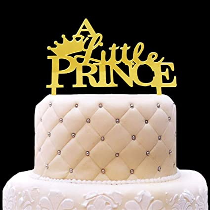 HYOUNINGF Gold Crown Cake Topper Elegant Decoration For King Queen Prince And Princess Themed Parties Royal Birthday