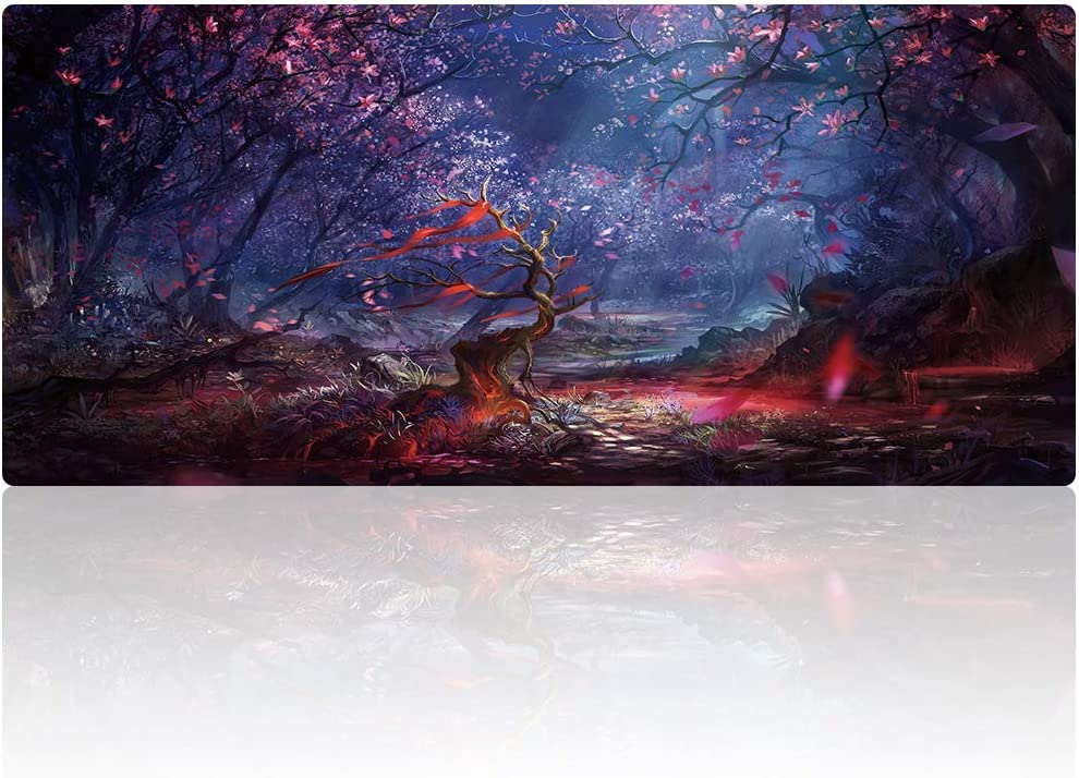 Cmhoo XXL Professional Large Mouse Pad & Computer Game Mouse Mat (35.4x15.7x0.1IN, 90x40 Forest)
