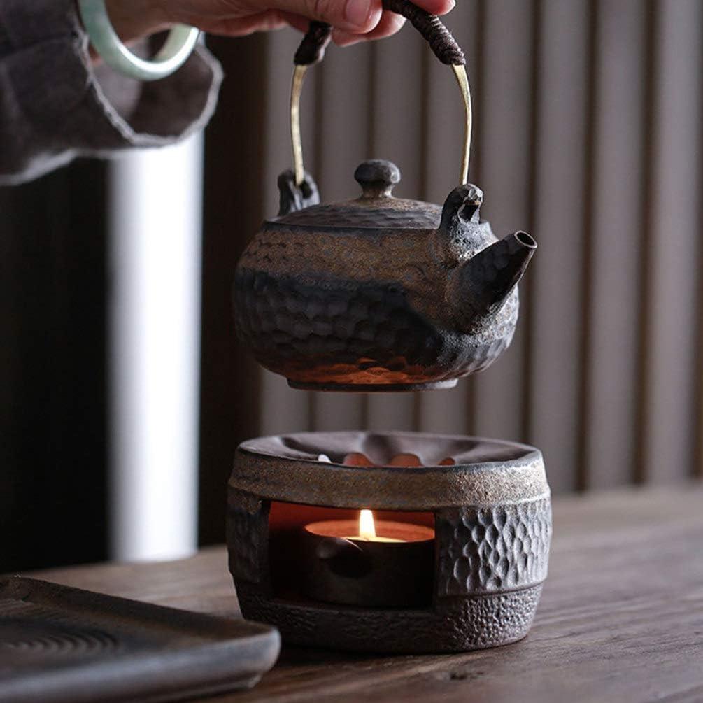 DOITOOL Retro Teapot Warmer with Tea Light Candle Holder Ceramic Tea Warmer