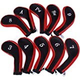 Leegoal 10 Golf Clubs Fer Ensemble Sport Housse de protection