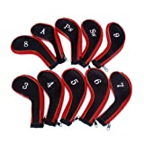 Leegoal 10 Golf Iron Headcovers Sports Protective Cover Set
