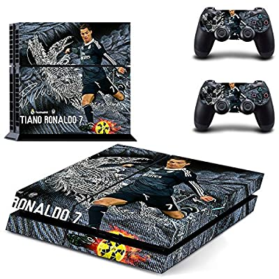PS4 Sticker FC REAL MADRID CRISTIANO RONALDO Skin for Sony PlayStation 4 System