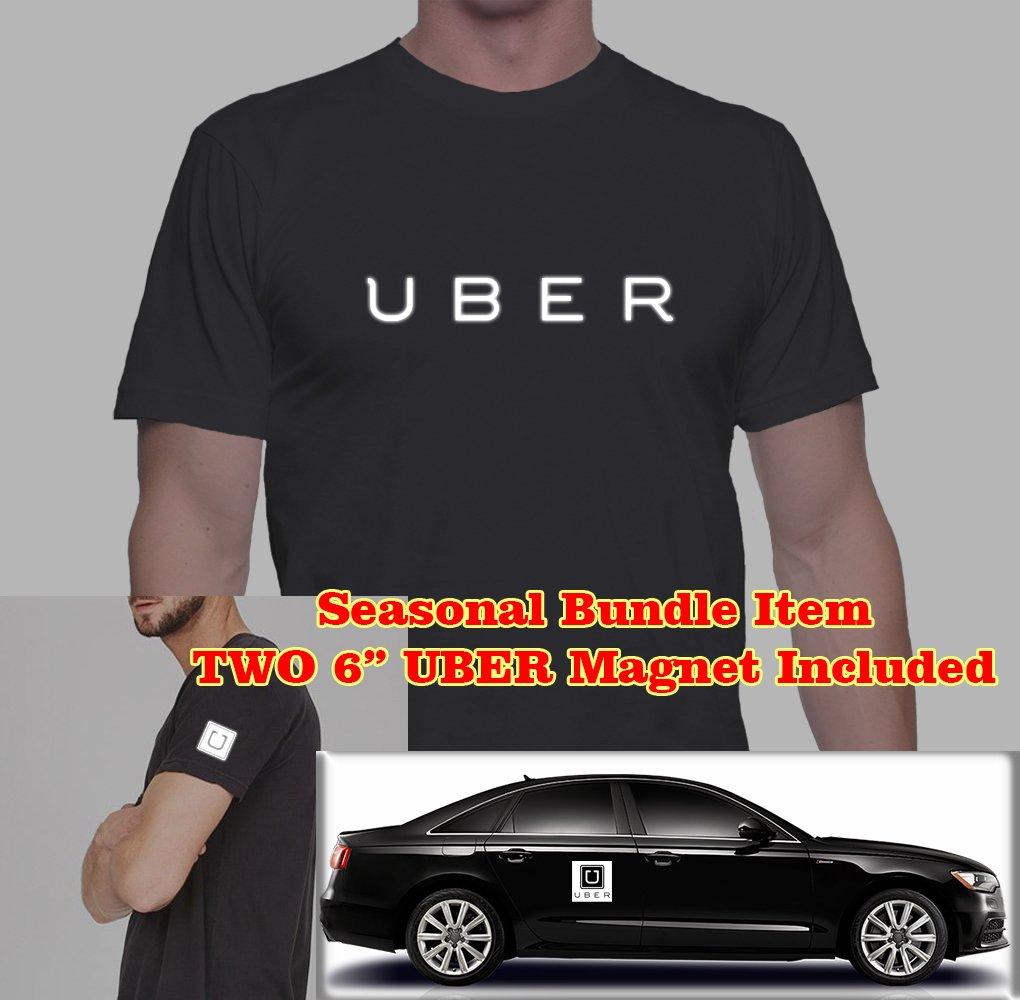 Shirt design uber - Amazon Com Bundle Two 6 Uber Magnet Sign Nighttime Reflective Uber Sign Unisex Custom T Shirt Sports Outdoors