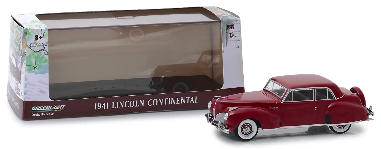 43 1941 Lincoln Continental Mayfair Maroon Greenlight 86324 1