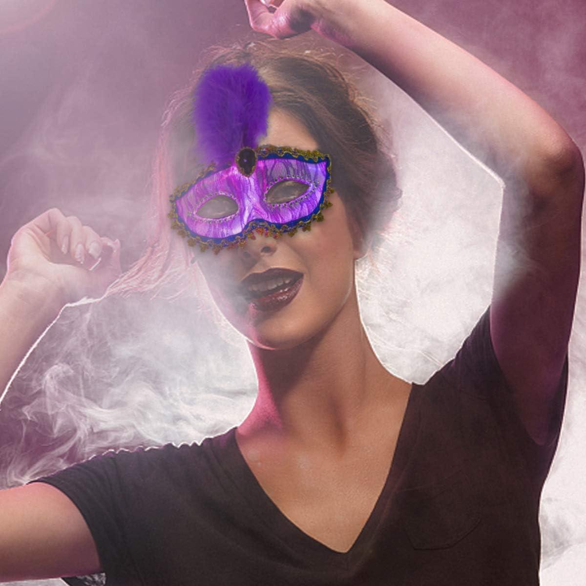 Fiber Optic Luminous Eye Mask USB Rechargeable with 7 Color Settings /& 4 Flashing Mode Optional Light Up Masquerade Mask LED Womens Costume Mask