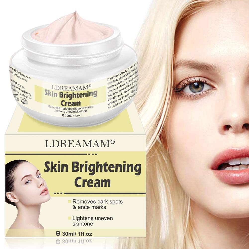 Skin Lightening Whitening Cream,Skin Brightening Cream, Brightening Face Moisturizer, Freckle cream,Anti Aging Skin Lightening Cream for Face Body Dark Spots and Age Spots,Freckles, Age Spots, Wrinkle by LDREAMAM