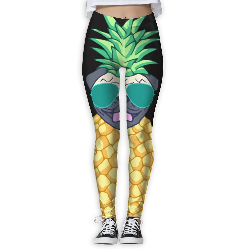 Cindly Pineapple Pug With Glasses Womens Sexy Yogapants