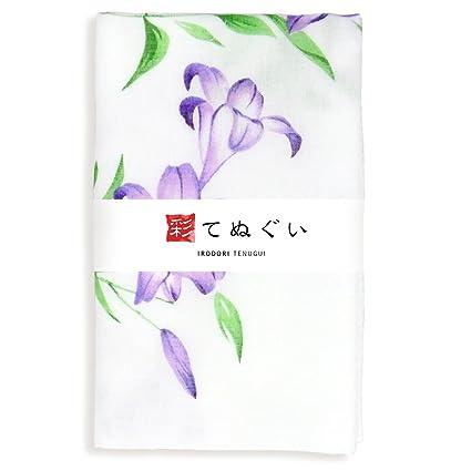 KOMESICHI Irodori Tenugui - Toalla de mano japonesa, color blanco