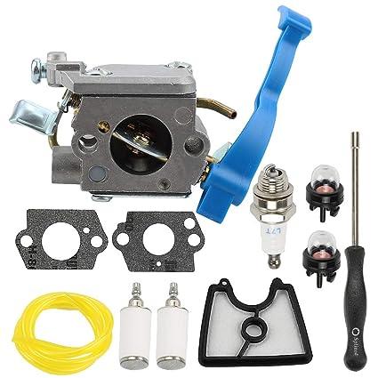 Allong Carburetor With Air Filter Adjustment Tool Kit Screwdriver Primer Bulb For Husqvarna 125B 125BX 125BVX ZAMA C1Q W37 545081811