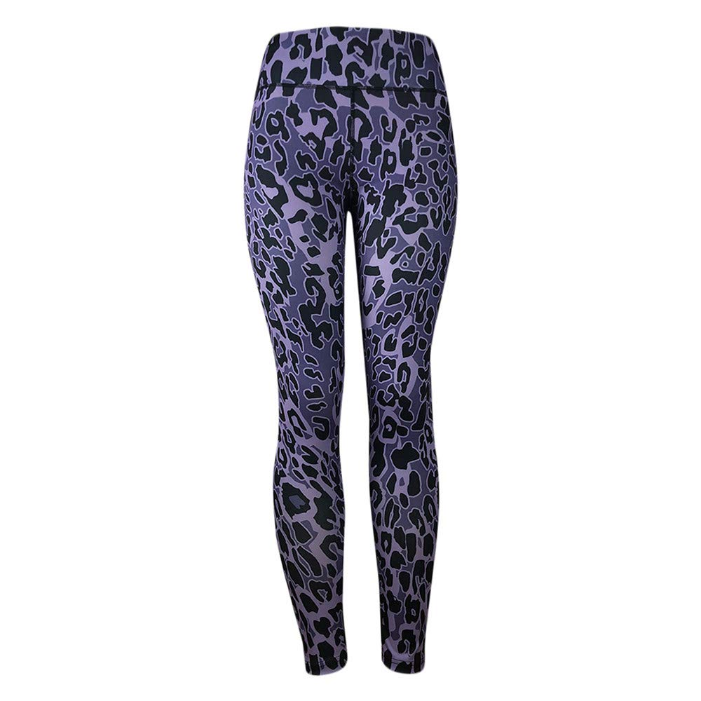 HTDBKDBK High Waist Yoga Pants, Women's Leopard Print Leggings Fitness Sports Gym Running Yoga Athletic Pants