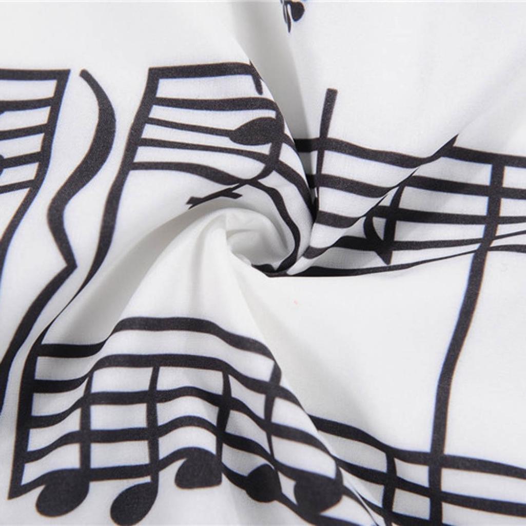 Damen Kleider Frauen Vintage Retro Musikalische Note Abendkleid Hevoiok Kleidung Mode Bodycon Partykleid /Ärmellos Kleid
