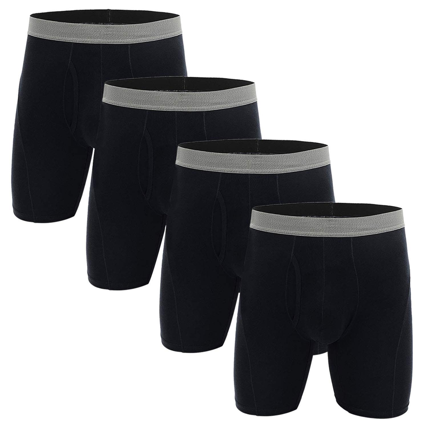 NEIKU Mens Underwear Boxer Briefs Pack 4Pack L