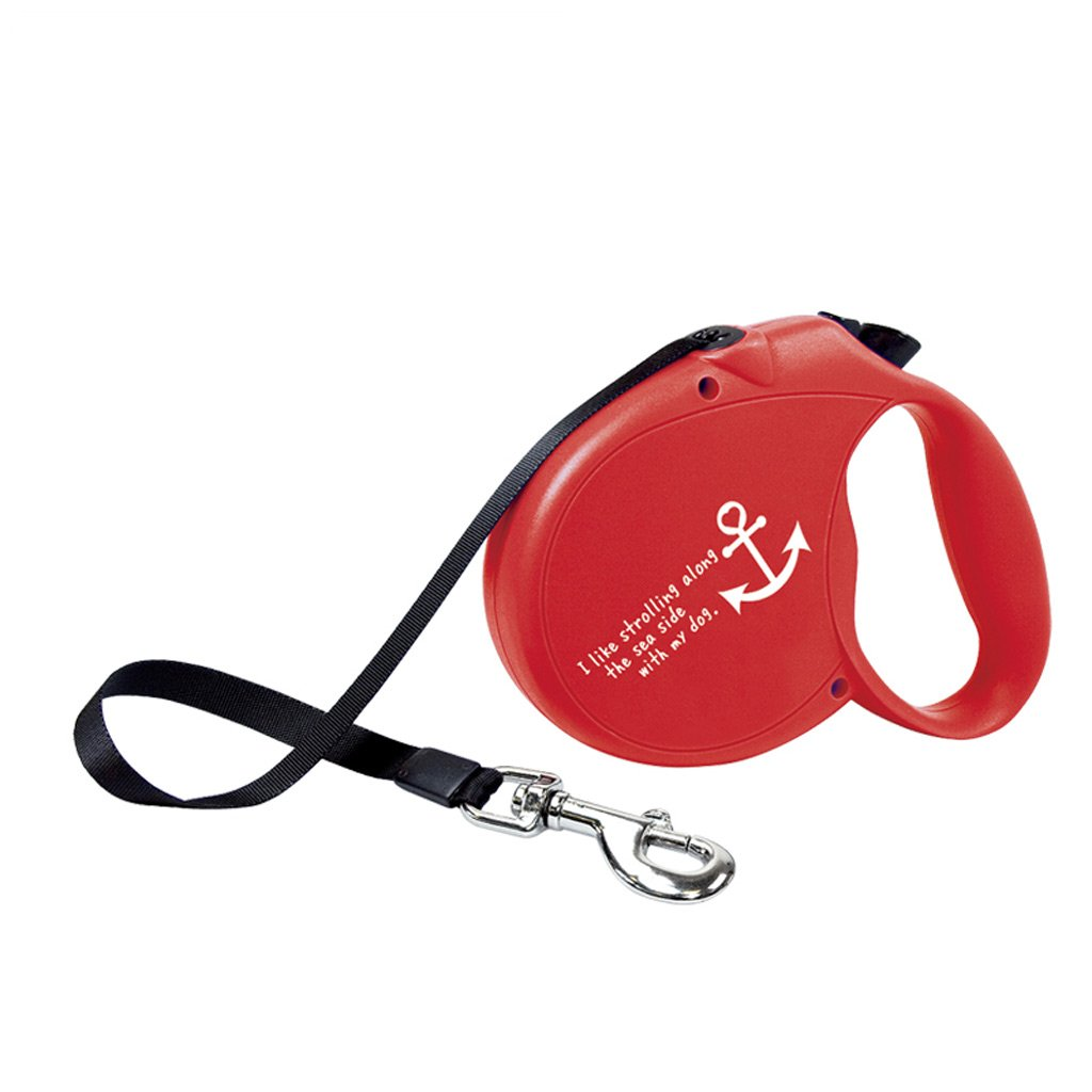 ZH1 Harness Dog Leash, 5M Retractable, Pet Lead, Belt, Suitable for Pets Up to 50KG, A Button Locking System, Retractable Pet Leash for Dog Training, Walking, Running (Color : Red)