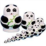 YAKELUS 10pcs Russian Nesting Dolls Matryoshka handmade1093