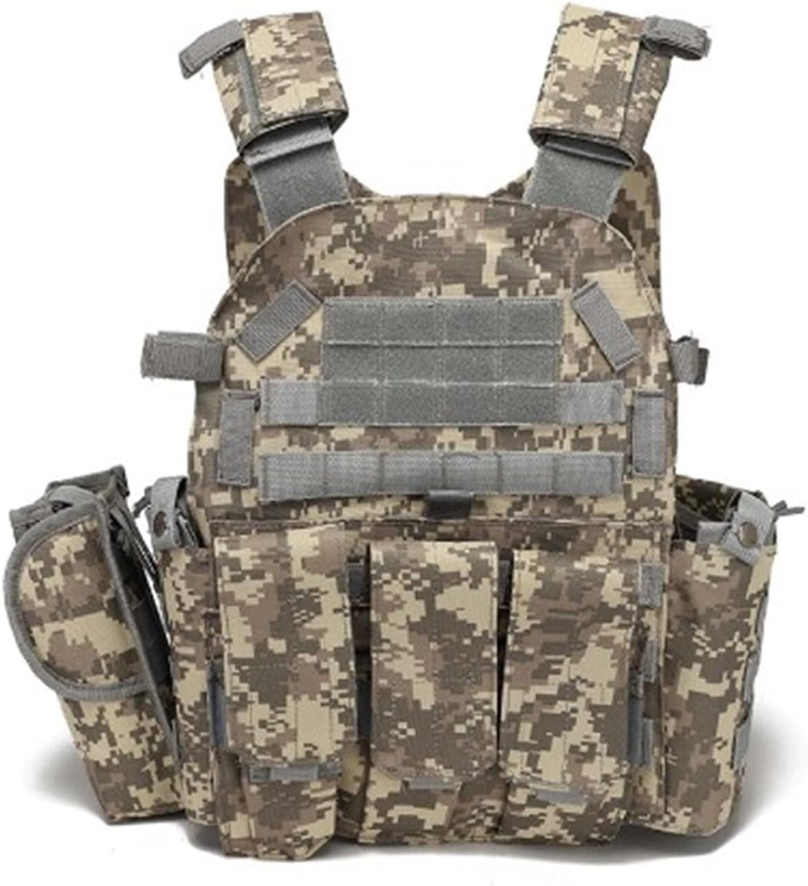 DZJUKD Chaleco táctico , Chaleco de Caza Tactical Militar JPC Placa Placer Chaleco Ammo Airsoft Paintball Gear Gear Hunting Tactical Gear Armor Chaleco para Entrenar Juegos de Paintball