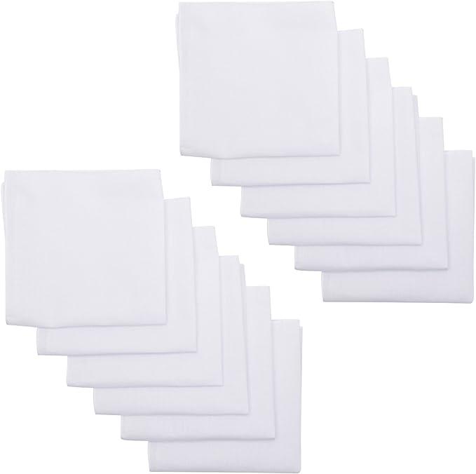 Men/'s Cotton White Handkerchiefs Classic Hanky Pocket Square Pack of 13 Vintage