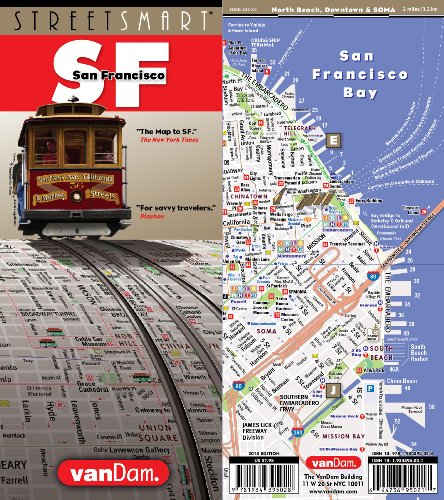 StreetSmart SF San Francisco Map By VanDam -- Laminated City Street pocket map with all attractions, museums, hotels and Bay Area transit information ... BART, MUNI and CALTrain, 2018 Edition Map