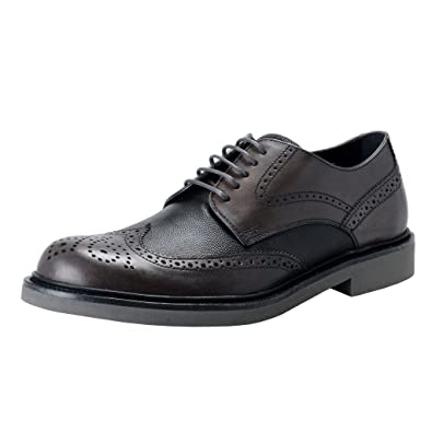 Tods Mens Gray Leather Derby Wing Tip Dress Shoes US 7 IT ...