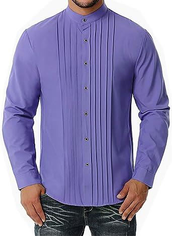 Cyiozlir Camisa de negocios para hombre de corte cómodo ...