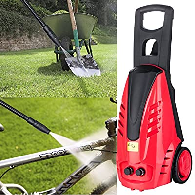 Professional 2200PSI Electric High Pressure Washer - 1800W 1.6GPM Sprayer Cleaner Machine with Power Hose&Nozzle&High Pressure Gun&Bult-in Soap Dispenser