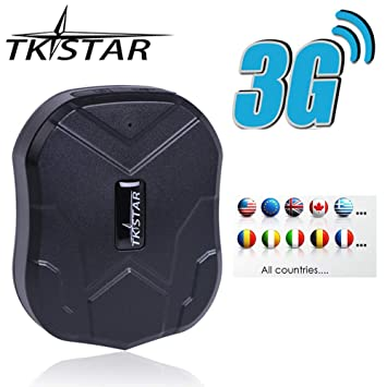 TKSTAR Hidden Vehicles 3G GPS Tracker, Waterproof Real Time Car GPS Locator  Anti Theft Alarm