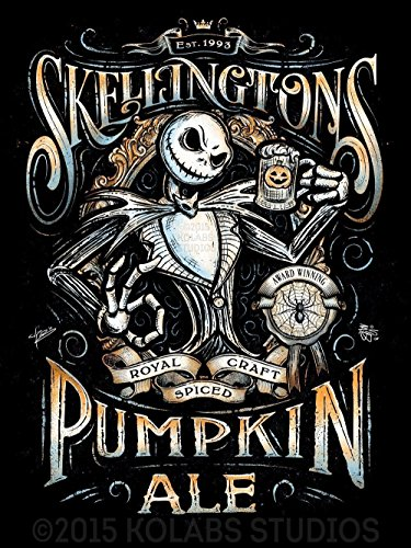 Nightmare Before Christmas Inspired Pumpkin Ale Beer Label Giclèe Print by J.P. Perez and Barrett Biggers (KOLABS STUDIOS) (90s Halloween Films)
