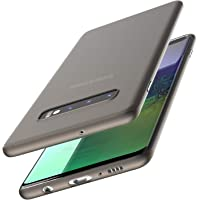 TOZO for Samsung Galaxy S10 Plus Case Ultra-Thin Hard Cover Slim Fit [0.35mm] World's Thinnest Protect Bumper for Samsung Galaxy S10+ [Semi-Transparent] Lightweight [Matte Finish Black]