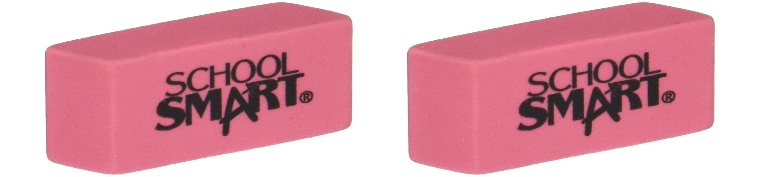 School Smart Beveled Erasers, Small, Pink, Pack of 36 (Twо Pаck, Pink)