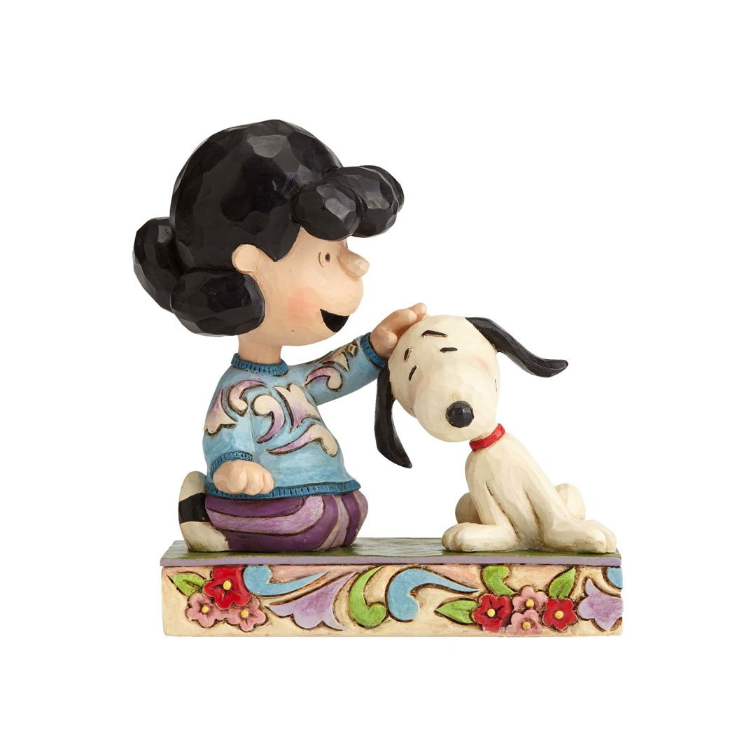 Peanuts by Jim Shore Lucy Petting Snoopy Figurine