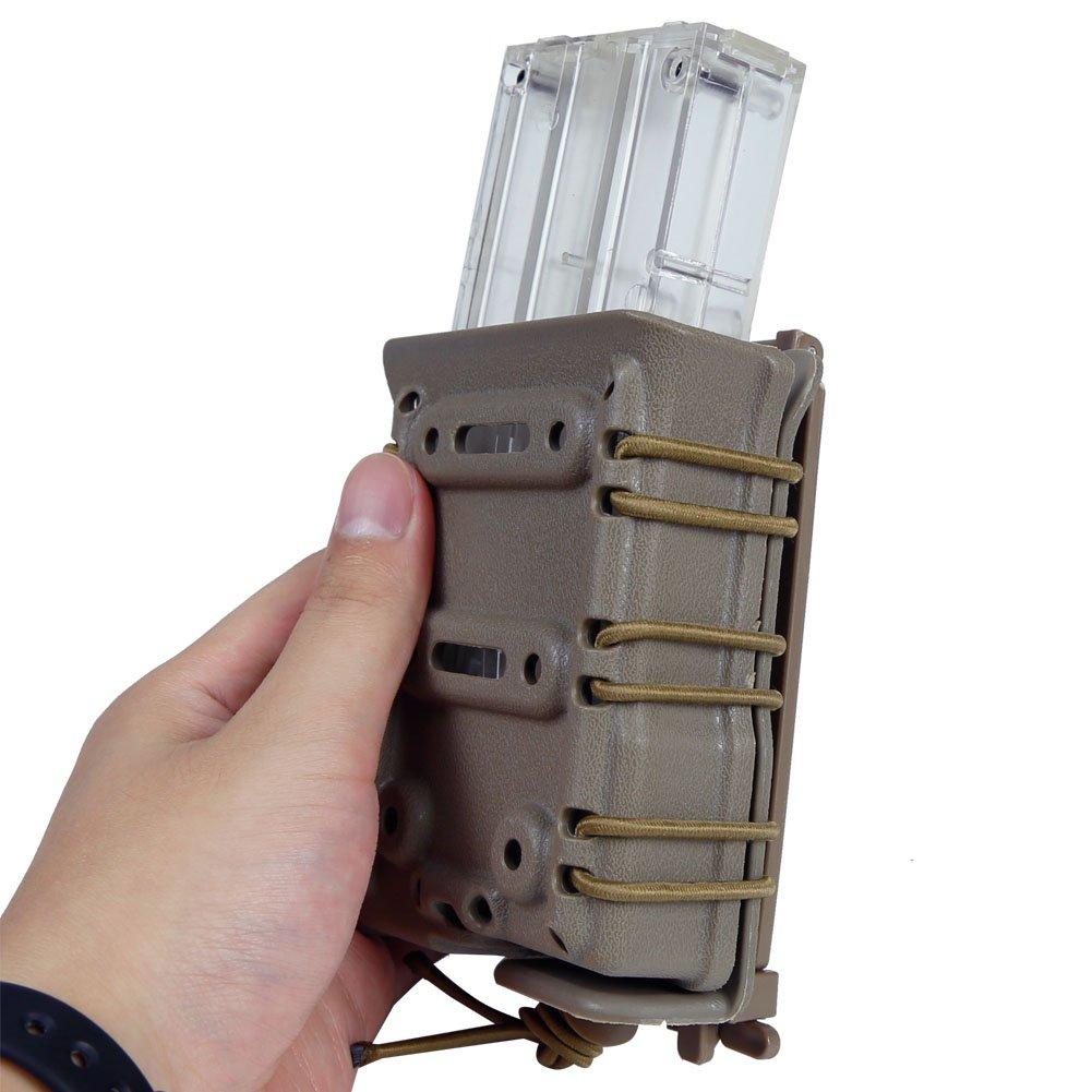 DECHO-C 7.62mm Magazine Poche Molle Modulaire Fusil Tactique Rapide Mag Pouch Ceinture Molle Montage Airsoft