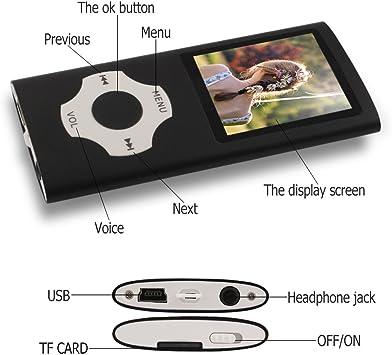 Ueleknight Lecteur MP3 MP4 avec Carte Micro SD 16G Lecteur de Musique /économique avec /écran de 1,8 Pouces Orange Lecteur de Musique Num/érique Portable//Vid/éo//E-Book//Visualisation dimages