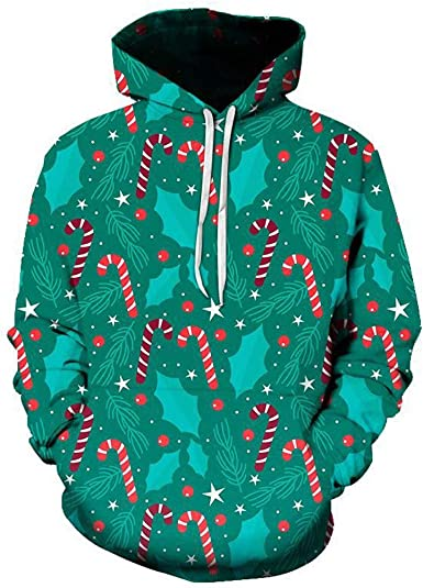 iZHH Hoodie Sweatshirt Mens Christmas Hooded Tops Blouse Autumn Outwear Coats