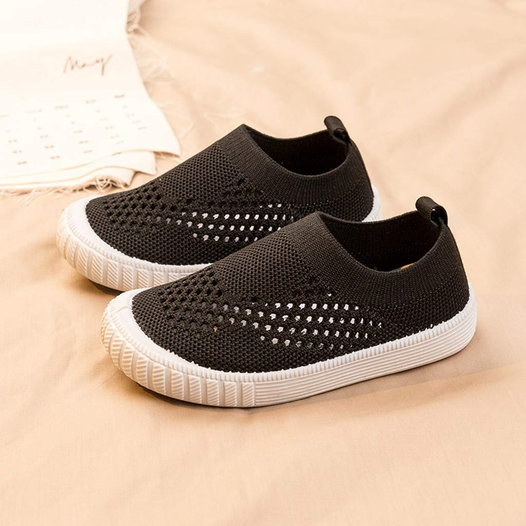Toddler Boys Girls Summer Shoes Mesh Running Sneakers for 1-7 Years Old Children Kids Slip-On Casual Shoes