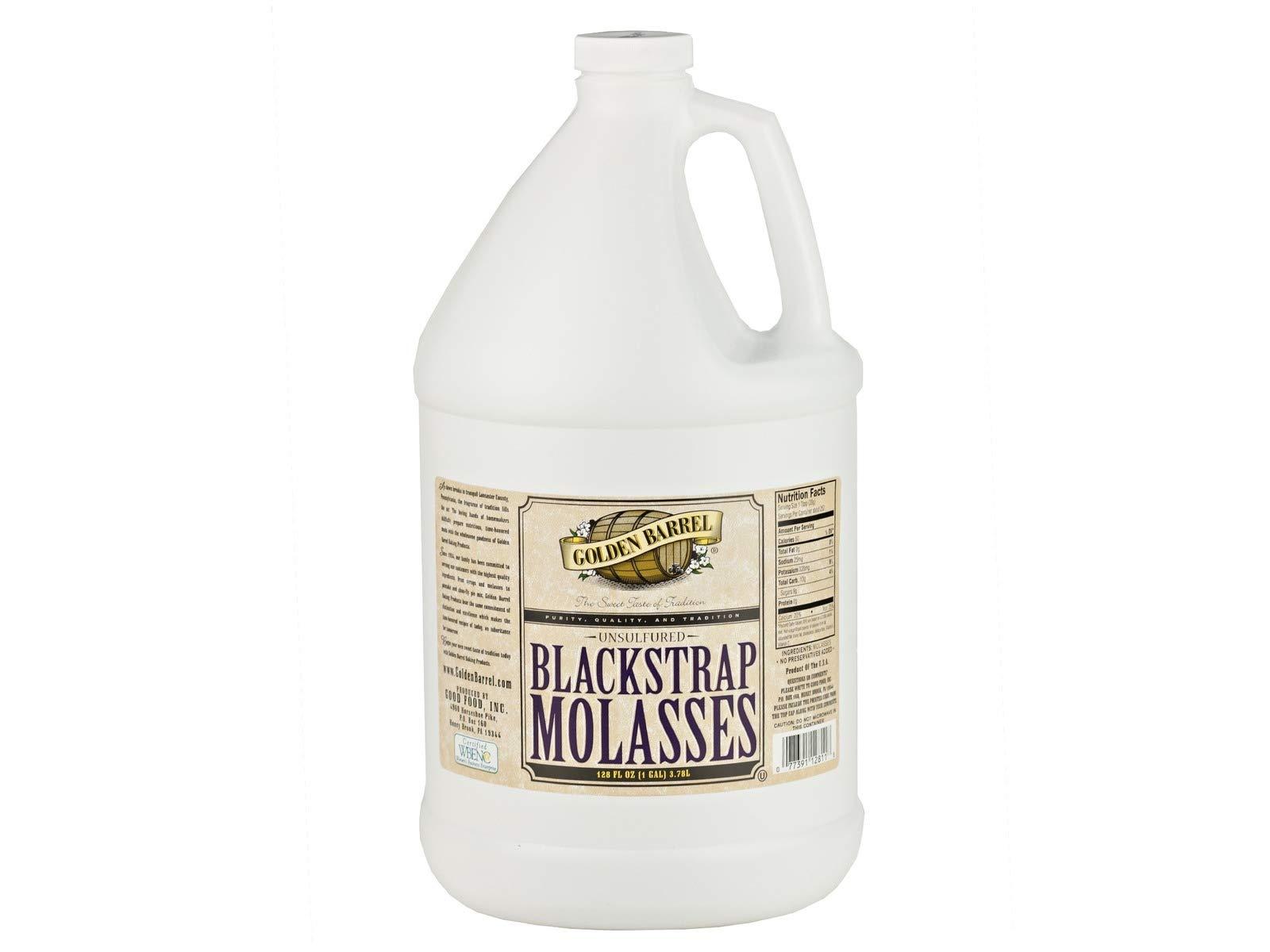 Golden Barrel Unsulfered Blackstrap Molasses (2-1 Gallon Jugs)