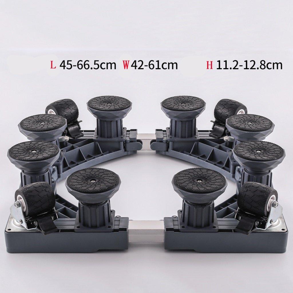 Drum Washing Machine Base Stainless Steel Move Bracket Fridge Stand -Casters (Size : C)