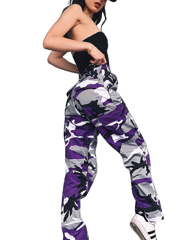 gagaopt Loose Camouflage Pant,Fashion BDU Cargo Pants,Hip-hop Streetwear
