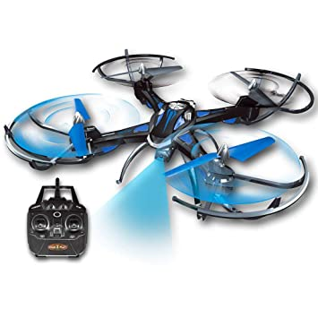 Gear2Play Dron Azul Helicóptero Cuadricóptero Juguete Educativo ...