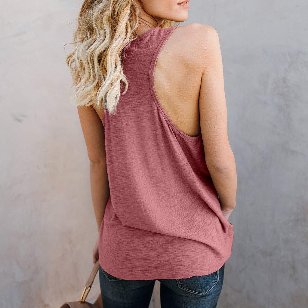 DORIC 2019 New Girls Womens Tops BlousePrint Cat Face Vest Sleeveless Loose Crop Tank T-Shirt